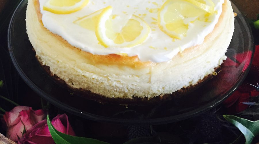 Gingersnap Lemon Cheesecake
